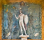 Mars Fresco In House Of Venus, Pompeii