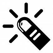 Cursor Finger Icon. Simple Illustration Of Cursor Finger Icon For Web poster