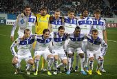 Fc Dynamo Kyiv Team Pose For A Group Photo