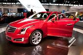 CHICAGO - FEB 12: The 2013 Cadillac ATS on display at the 2012 Chicago Auto Show. February 12, 2012