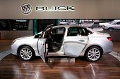 CHICAGO - FEB 12: The 2013 Buick Verano on display at the 2012 Chicago Auto Show. February 12, 2012