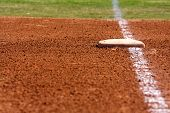 image of infield  - Baseball Field at First Base - JPG