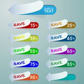 Vector Discount Labels