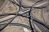 pic of superstition mountains  - Aerial view of the East Mesa Interchange at the Loop 202 and Superstition Freeways - JPG