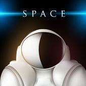 vector space suit illustration