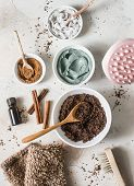 Home Anti-cellulite Products - Coffee Scrub, Cosmetic Clay, Essential Orange Oil, Hand Anti-cellulit poster