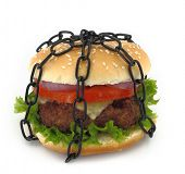 foto of food chain  - Chained burger - JPG