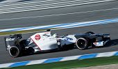 Kobayashi Test Driving His F1 Sauber Racing Car Jerez 2012