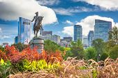 George Washington Monument at Public Garden in Boston, Massachusetts. (Equestrian Statue of George W poster