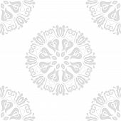 Classic Seamless Light Silver Pattern. Damask Orient Ornament. Classic Vintage Background poster