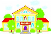 picture of school building  - Vector clip - JPG