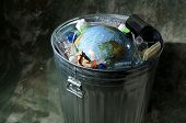 Earth In A Trash Can