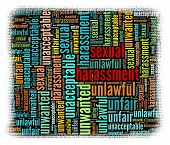 Sexual harassment Concept in word collage