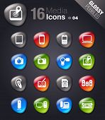 Glossy Pebbles - Media Icons