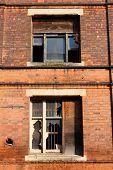 pic of west midlands  - Broken glass in old warehouse - JPG