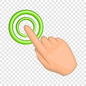 Cursor Hand Icon. Cartoon Illustration Of Cursor Vector Icon For Web Design poster