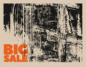 Big Sale Typographical Vintage Style Grunge Poster Design. Retro Vector Illustration. poster