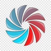 Colorful Circular Spiral Icon. Cartoon Illustration Of Colorful Circular Spiral Vector Icon For Web  poster