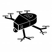 Small Copter Drone Icon. Simple Illustration Of Small Copter Drone Vector Icon For Web Design Isolat poster