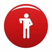 Stick Figure Stickman Icon Pictogram. Simple Illustration Of Stickman Icon Isolated On White Backgro poster