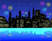 Feuerwerk in der New York city