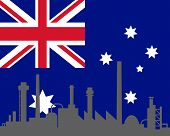 Industry And Flag Of Australia