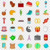 Jar Icons Set. Cartoon Style Of 36 Jar Vector Icons For Web For Any Design poster
