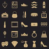 Stylist Icons Set. Simple Set Of 25 Stylist Vector Icons For Web For Any Design poster