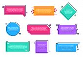 Texting Boxes. Colored Quote Box Speech Bubble Template Text Note Brackets Citation Message Page Emp poster