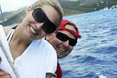 Happy Couple On Honeymoon