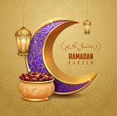 Illustration Of Ramadan Kareem Generous Ramadan Greetings For Islam Religious Festival Eid With Illu poster