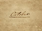 100 years old handwritten october