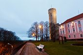 Morning At Long Herman Tower In Tallinn, Estonia