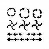 Set Of Black Vector Arrows.arrow Web Icons Isolated, Arrow Icon. Arrow Vector Icon. Arrow. Arrows Ve poster