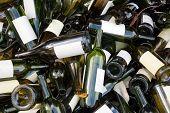 Botellas de vinos vacías