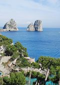 View of Faraglioni of Capri island
