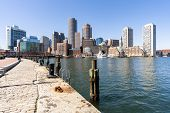 Boston Downtown skylines building cityscape at Boston city, MA, USA. poster