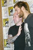 SAN DIEGO, CA - JULY 13:Steven S. DeKnight and Liam McIntyre arrive at the 2012 Comic Con convention
