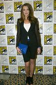 SAN DIEGO, CA - JULY 13: Katie Cassidy arrives at the 2012 Comic Con convention press room at the Ba