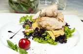 salad with vegetables and chicken