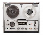 Retro audio tape recorder