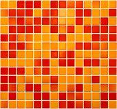 Orange and red stoneware mosaic texture background