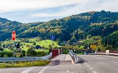 Crossroad In The Black Forest Mountains. Germany, Baden-Wurttemberg
