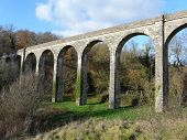 picture of poitiers  - Arched Roman aqueduct near Poitiers in France - JPG