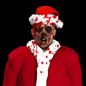 foto of festering  - A Zombie father Christmas covered in blood - JPG