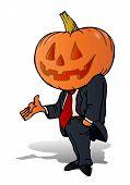Pumpkin Businessman