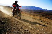 Moto Racer unterwegs