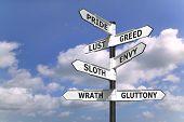 Dealdy sete pecados Signpost
