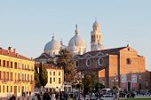 View Of Prato Della Valle And Basilica Of S.giustina In Padua
