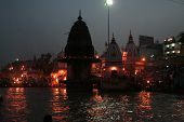 River Ganga By Night